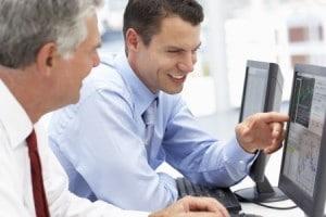 men at computers