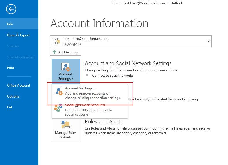 Changing your Account Password in Ms Outlook » Data ...