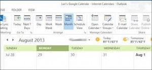 Using Outlook and Google Calendar together in a Small Business Environment