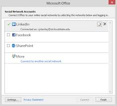 Linking Social Accounts in Outlook 2013 – A Primer