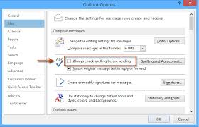Checking Spelling while Composing an email in Outlook - A Primer