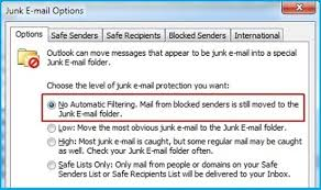 Tracking important emails that may have landed in your Junk folder