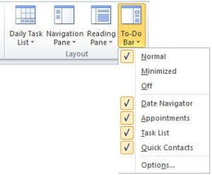 To Do Bar in Outlook
