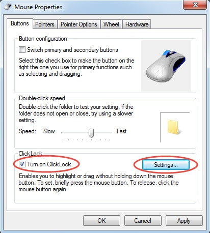 Turn on ClickLock to Avoid Accidentally Dragging Outlook Folders