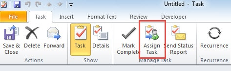 Assign Task Button