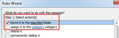 Move it to the specified folder