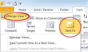 "Switch to ""Sent To"" View for Sent Items Folder"