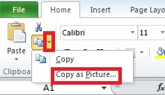 Click Copy as Picture