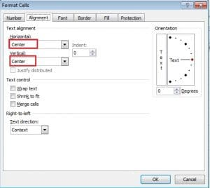 Set Text Alignment for Cells