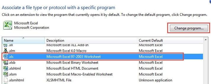 how to set default program to open files