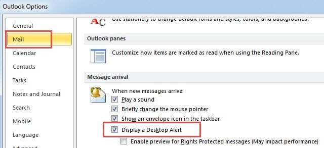 2 Steps To Enable New Mail Alerts For Specific Accounts