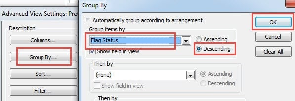 Group All Emails by Flag Status