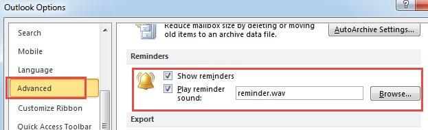 Missing Reminder Sound File