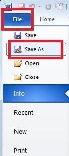 """Select """"Save As"""""""