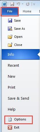 """""""File"""" Menu"""