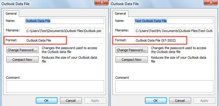 Check the Format of Your Outlook File