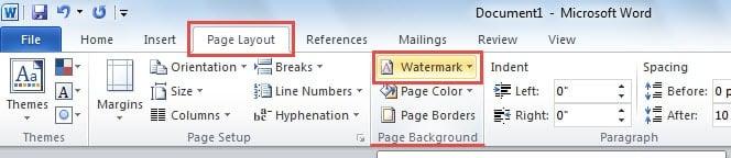 Locate Watermark Button