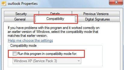 Check if Outlook Is in Compatibility Mode