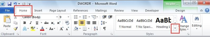 how to delete horizontal line in word