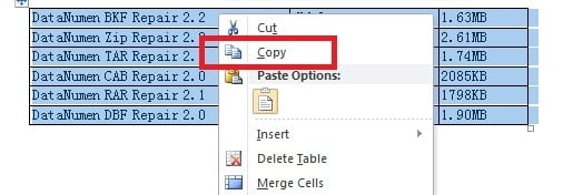 """Right click and select """"Copy"""""""