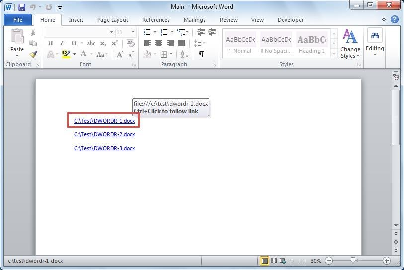 how to create link to a document