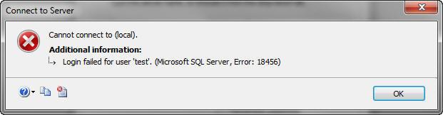 Error 18456 In SQL Server