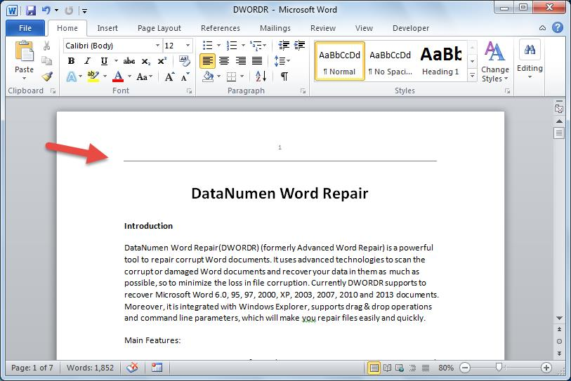 microsoft word remove blank page