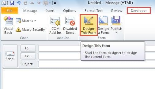 Design Message Form