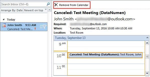 Outlook Calendar Organization : How to remove canceled meetings from outlook calendar