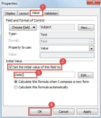 how to add auto date to word