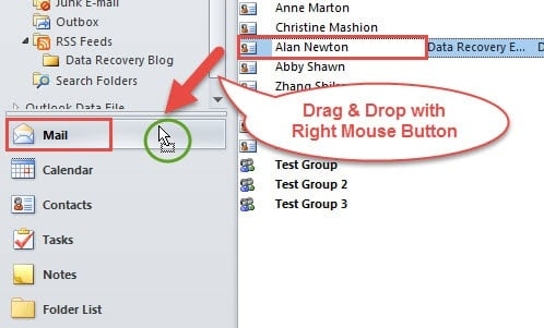 Drag and Drop with Right Mouse Button