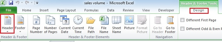 how to close header and footer in excel 2016