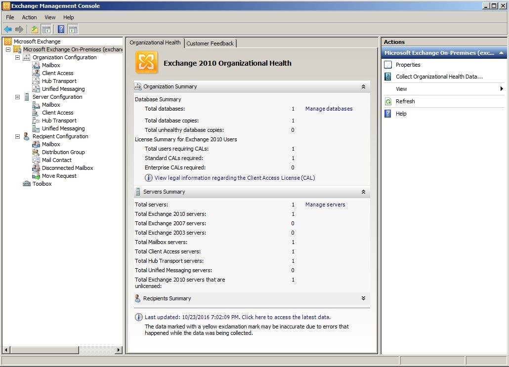 Exchange management console of exchange 2010 a brief introduction data recovery blog - Exchange management console ...