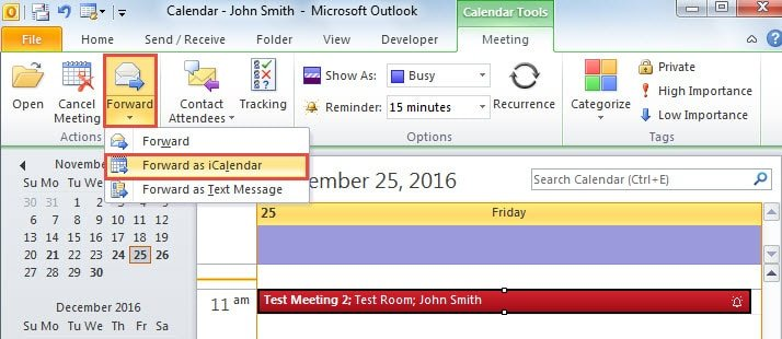 how to send invites as bcc on outlook