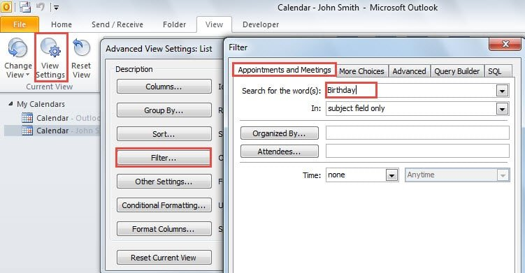 Birthday Calendar In Outlook : How to print all birthdays in a specific month from