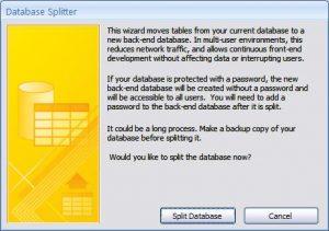 Access Database Splitter Wizard