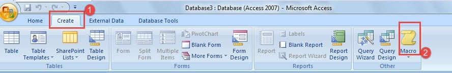 how to create a macro in access