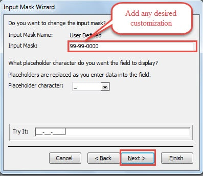 Add Any Desired Customization Then Click Next