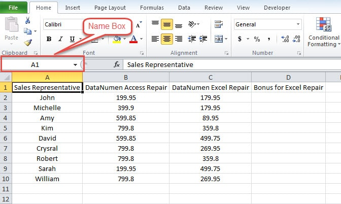 how to change name range in excel