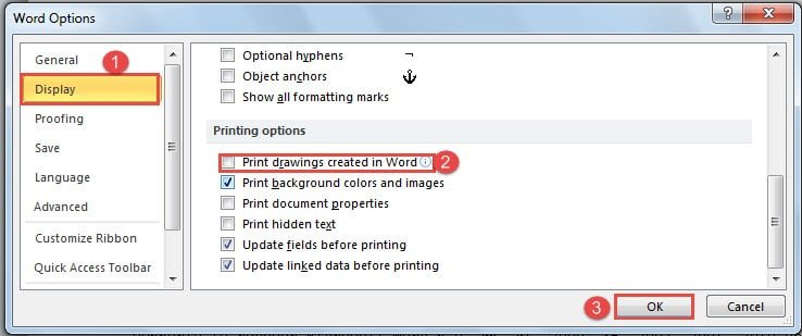 4 Ways To Save Your Ink By Printing Word Document Without Images And Shapes