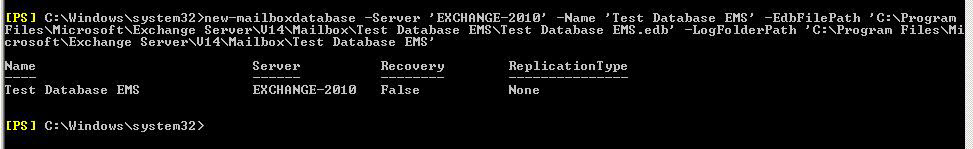 Create A New Database Using EMS