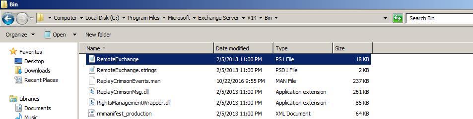 RemoteExchange PS1 File