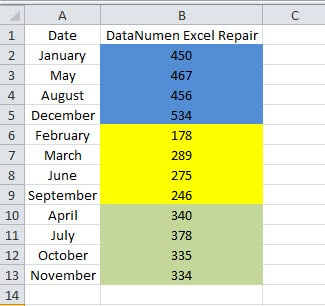 how to sort cells by cell colors in your excel worksheet data recovery blog. Black Bedroom Furniture Sets. Home Design Ideas