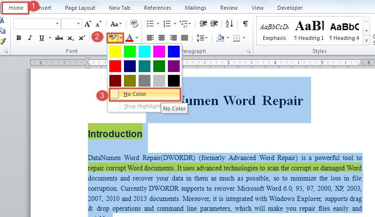 5 Methods To Remove Highlighting Or Shading In Your Word Document