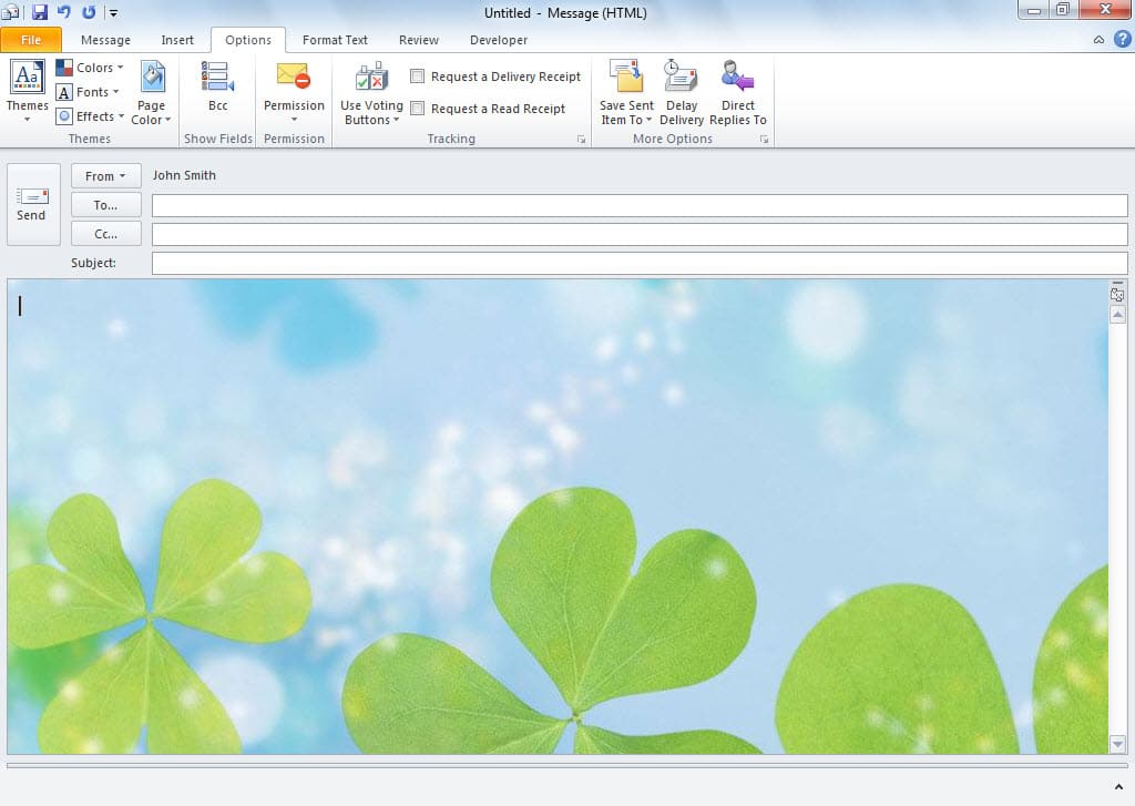 how to create and use custom stationery in outlook