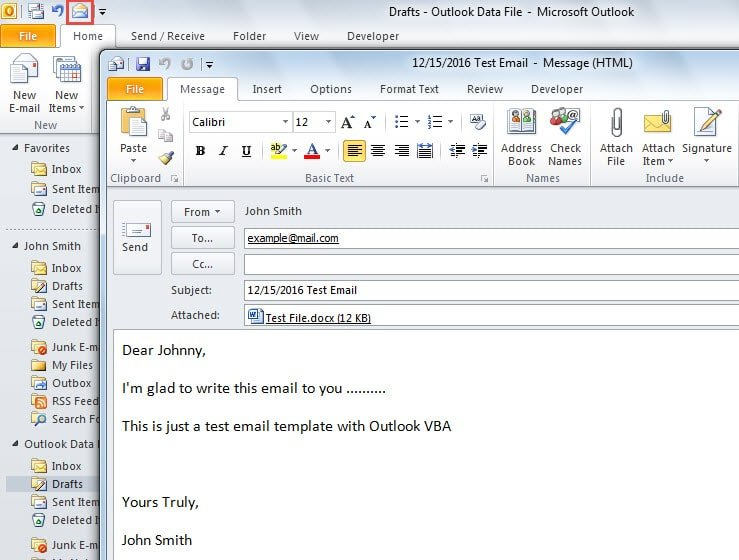2 quick methods to create new emails from a template with for How to make a template in outlook