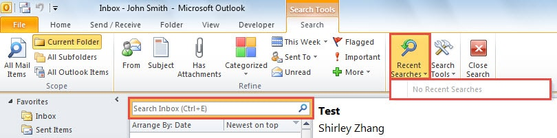 How to clear the recent search history in your outlook data how to clear the recent search history in your outlook data recovery blog ccuart Choice Image
