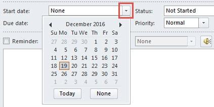 Reach a date in the drop down calendar