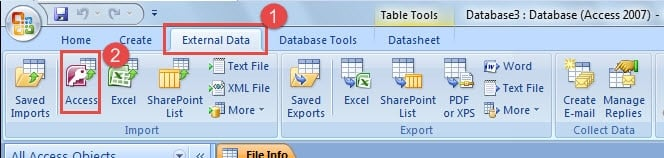 Select Access In Import Group