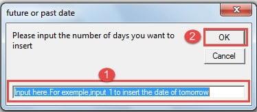 "Enter in the Text Box ->Click ""OK"""